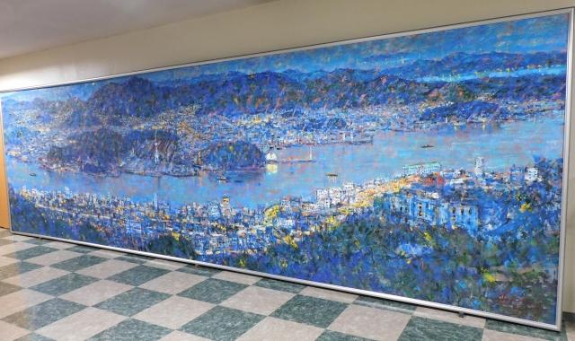 画家 中西繁先生より絵画「尾道夕景」を寄贈していただきました